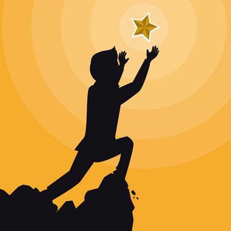 Boy reaching for the stars