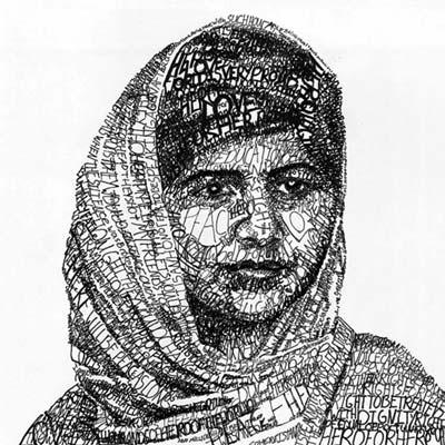 Michael Volpicelli's portrait Malala Yousafzai