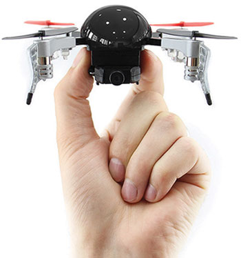 Hand holding the Micro Drone 3.0