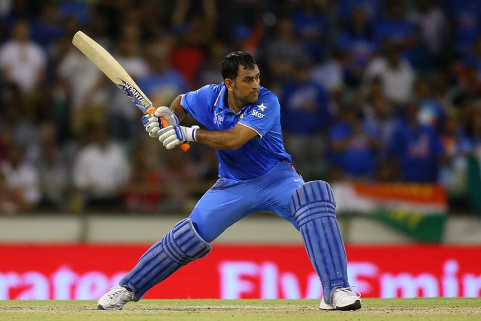 Team India's wicketkeeper-captain MS Dhoni batting