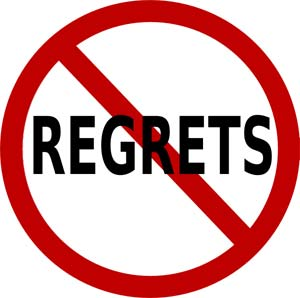 The word regrets cancelled out