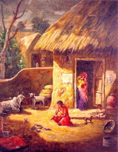 Village scene in India