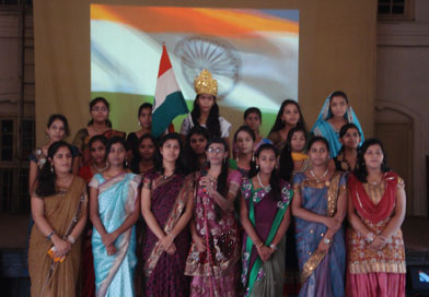 Students of J. N. Tata Parsi Girls' High School & Jr College, Nagpur on Independence Day