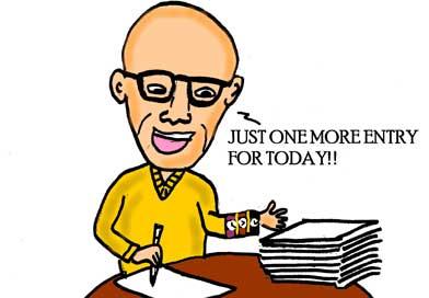 Buckminster Fuller writing in his diary