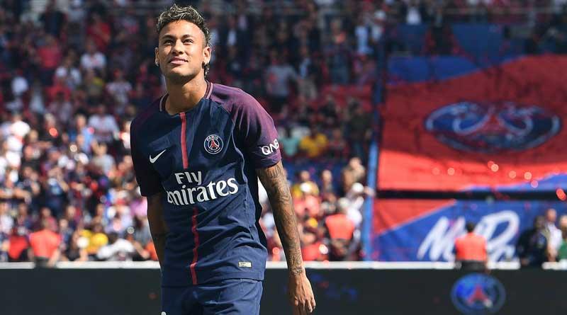 Footballer Neymar unveiled as PSG player