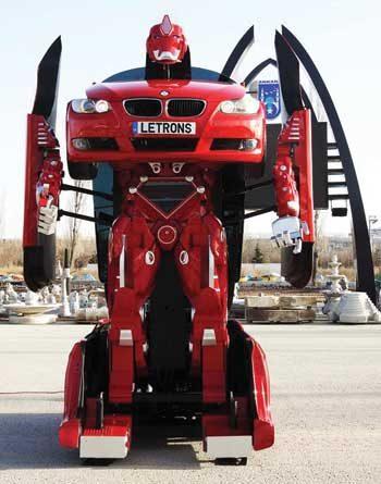 Letrons Transformer type prototype robot