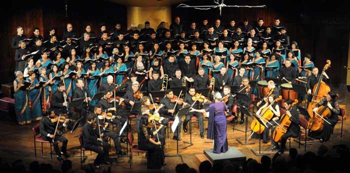 Choir performing at a concert in Mumbai