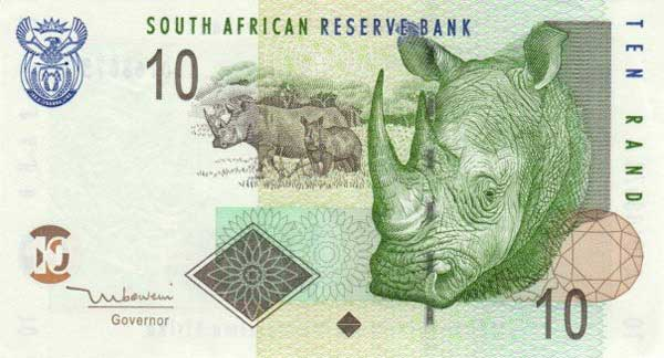 Rand, currency of South Africa