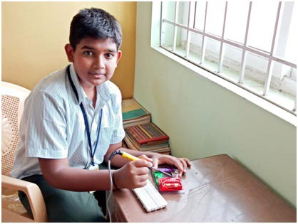 Sharan Karthik, student of Sri National School, Gobichettipalayam