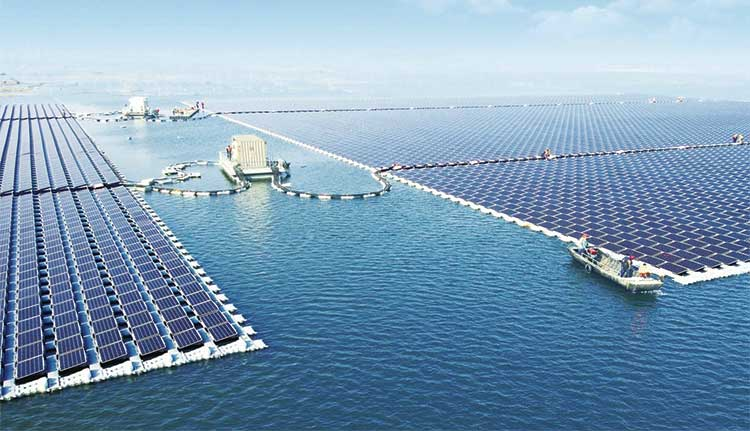 World's largest floating solar farm in Anhui province