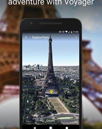 Google Earth app screenshot
