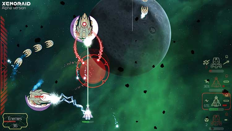 Screenshot of Xenoraid shooter game