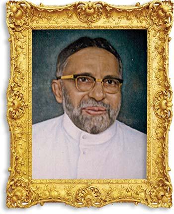 Portrait of Aloysius G. Rego, co-founder of THE TEENAGER magazine