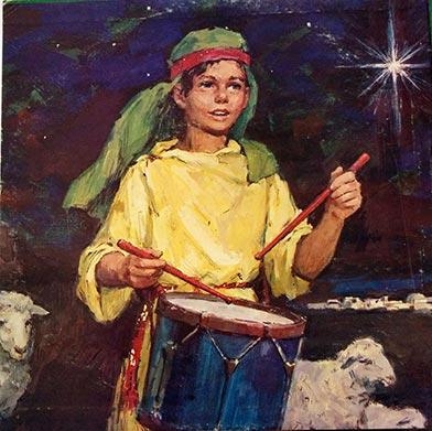 Illustration of the Little Drummer Boy