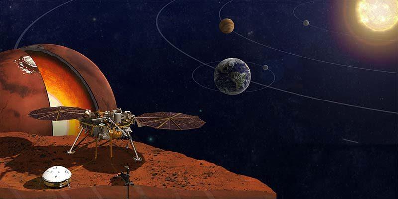 Illustration of NASA spacecraft InSight