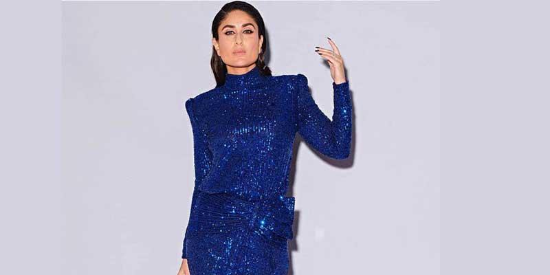 Kareena Kapoor in a blue sequinned dress