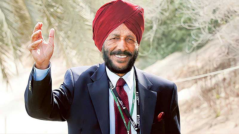 Milkha Singh waving