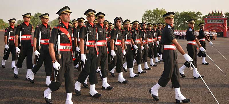 Cadets marching at the National Defence Academy