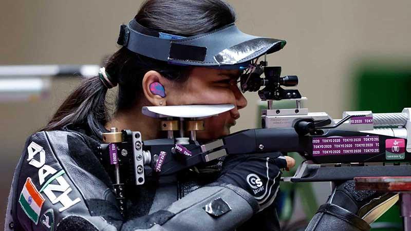 Avani Lekhara shooting at the Tokyo 2020 Paralympics