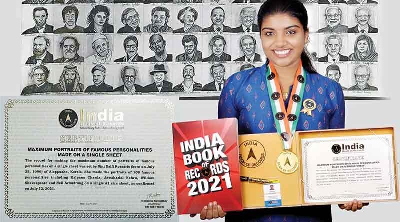 Sini Rossario India Book of Records